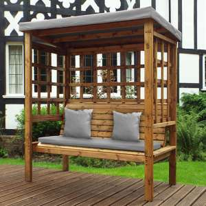 Fela Bramham 3 Seater Arbour In Grey