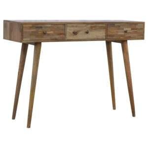 Felix Wooden Console Table In Oak Ish With 3 Drawers