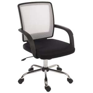 Fenton Home Office Chair in Black With White Mesh Back