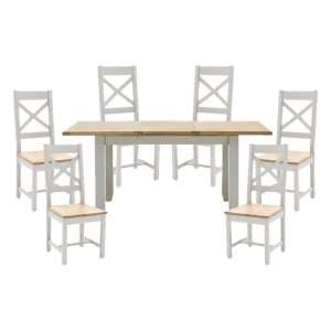 Ferndale Extending Dining Table With 6 Cross Back Chairs