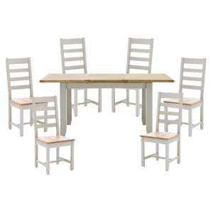 Ferndale Extending Dining Table With 6 Ladder Back Chairs