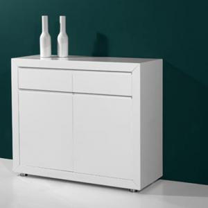 Fino Modern High Gloss White 2 Door Sideboard With 2 Drawers