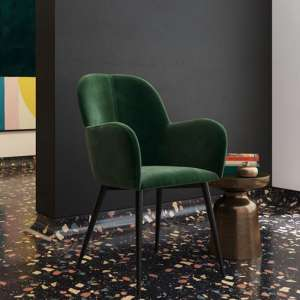 Fitz Velvet Bedroom Chair In Green