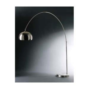 C Shaped Large Floor Lamp In Chrome Effect