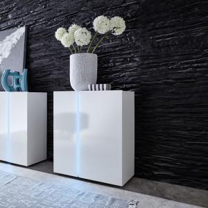 Florus Sideboard In White With Gloss Fronts And LED_1