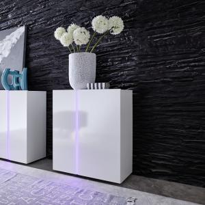 Florus Sideboard In White With Gloss Fronts And LED_3