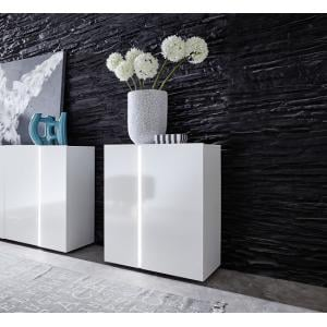 Florus Sideboard In White With Gloss Fronts And LED_4