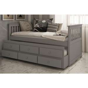 Flos Wooden Day Bed And Guest Bed In Grey With Drawers