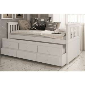 Flos Wooden Day Bed And Guest Bed In White With Drawers