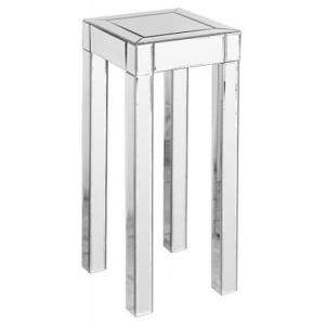 Tall Clear Mirrored Pedestal