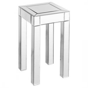 Small Clear Mirrored Pedestal