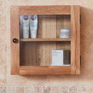 Fornatic Bathroom 1 Door Wall Storage Cabinet In Mobel Oak