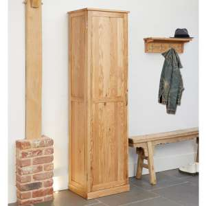Fornatic Tall Wooden Shoe Storage Cabinet In Mobel Oak