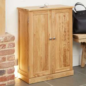 Fornatic Wooden Shoe Storage Cabinet In Mobel Oak