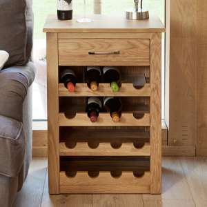 Fornatic Wooden Wine Rack Lamp Table In Mobel Oak
