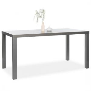 Fortis 160cm Dining Table Rectangular In Matt Dark Grey