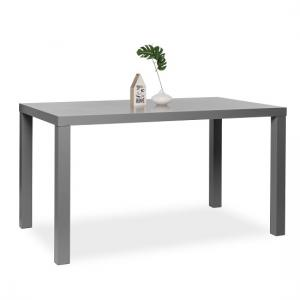 Fortis Dining Table Rectangular In Dark Grey High Gloss_1