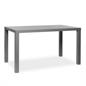 Fortis Dining Table Rectangular In Dark Grey High Gloss_3