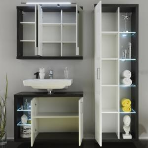 Forum Bathroom Set 3 In Smoke Silver Gloss White Fronts And LED_2