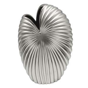Fountain Ceramic Large Decorative Vase In Silver