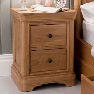 Frank Wooden Bedside Cabinet In Natural Oak Finish