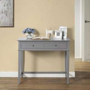 Franklin Wooden Laptop And Writing Desk In Grey