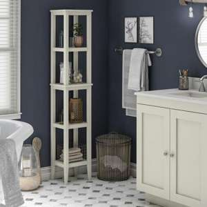 Franklin Wooden Storage Tower In White