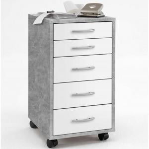 Freddy Contemporary Office Cabinet In Light Atelier And White