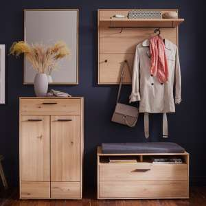 Frejus Wooden Hallway Furniture Set 2 In Planked Oak