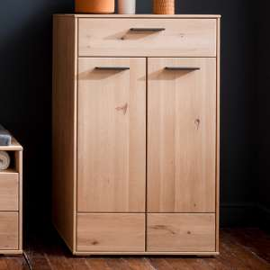 Frejus Wooden Shoe Storage Cabinet In Planked Oak