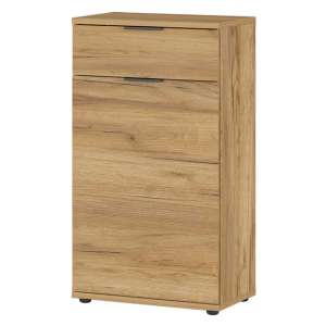 Fremont Narrow Shoe Storage Cabinet In Navarra Oak