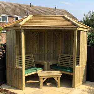 Fresta Wooden Occaisonal Seating Garden Room With Decking