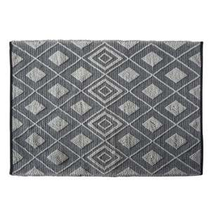 Freya Small Fabric Upholstered Rug In Black Natural