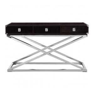 Furud Townhouse Cross Base Console Table In Black