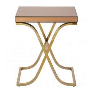 Furud Townhouse Cross Frame Side Table In Brown