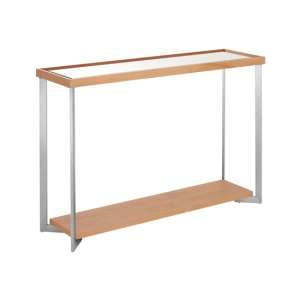 Furud Townhouse Mirrored Glass Console Table In Natural