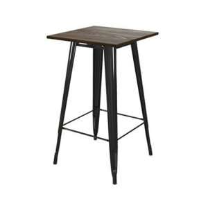 Fusion Metal Square Bar Table In Black