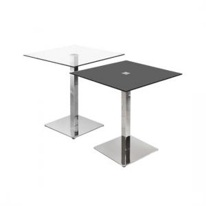 Simon Dining Table Square In Black Glass