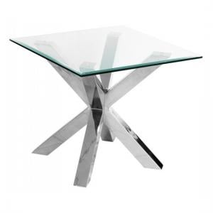 Crossley Square Clear Glass Lamp Table