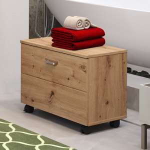 Gaep Bathroom Seating Storage Unit In Artisan Oak