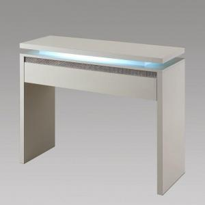Garde Console Table In White Gloss And Diamante With Lights