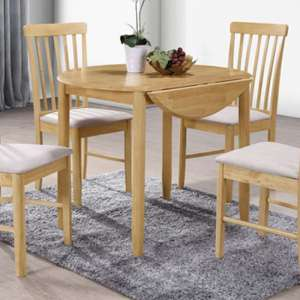 Garnet Round Drop Leaf Dining Set With 2 Chairs