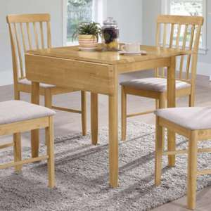 Garnet Square Drop Leaf Dining Set With 2 Chairs