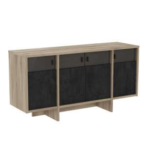 Gatlin Sideboard In Kronberg Oak And Sidewalk With 4 Doors