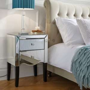 Gatsby Mirrored Bedside Cabinet With 2 Drawers