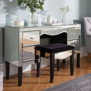 Gatsby Mirrored Rectangular Dressing Table With Stool