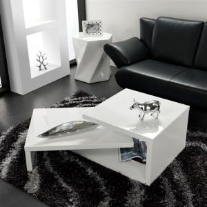 Geno Coffee Table In White High Gloss With Rotation_2