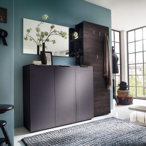 Genie Hallway Furniture Set 3 In Matt Anthracite And Wenge