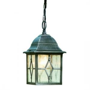 Genoa Outdoor Porch Light In Black And Silver