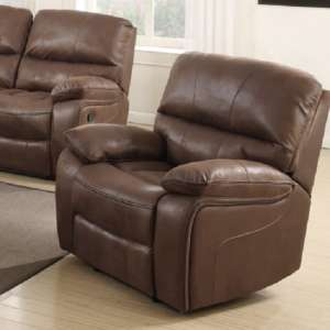 Giana Recliner Sofa Chair In Chocolate Faux Leather